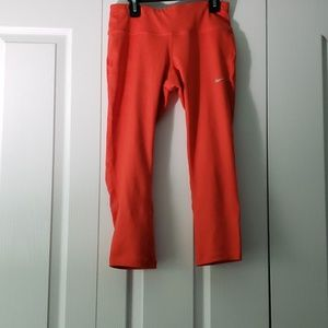 Three Quarter Orange Nike Leggings